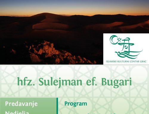 Sabahski sohbet uz hfz. Sulejman ef. Bugari