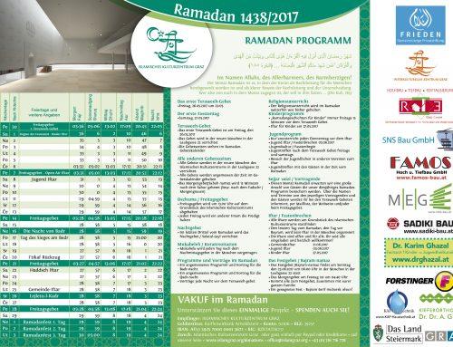 Gebetszeiten für den Ramadan