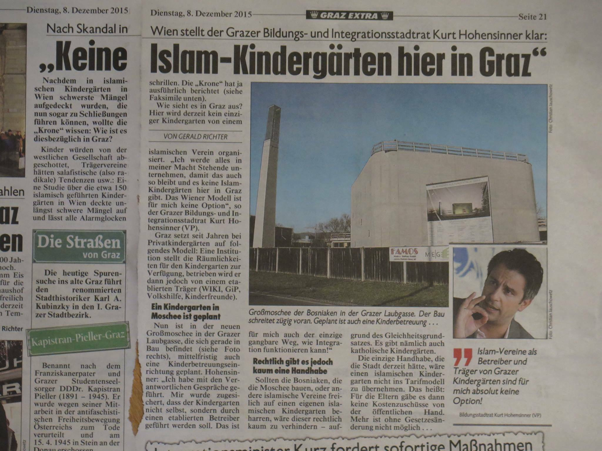 graz muslim I present anti-muslim jokes to ridicule islam,  susanne winter, a candidate for the freedom party in local elections in graz in south-eastern austria, .