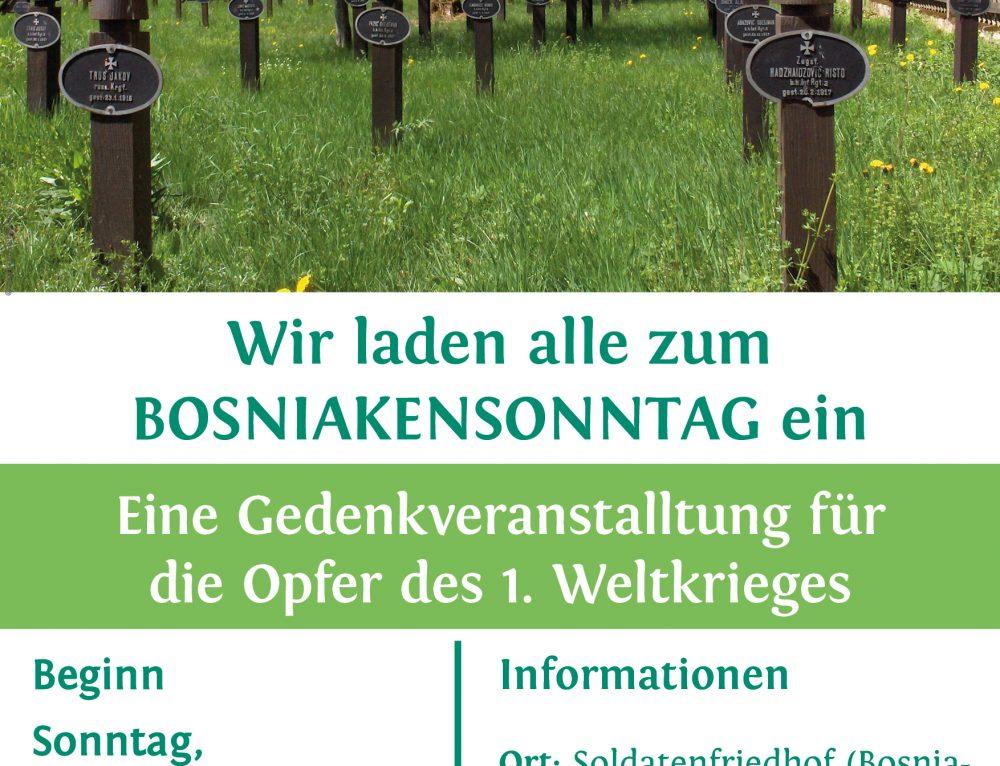 Bosniakensonntag – Eine Gedenkveranstalltung für die Opfer des 1. Weltkrieges