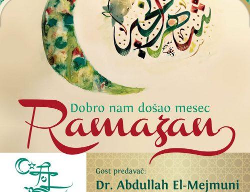 Dobro nam došao mjesec ramazan