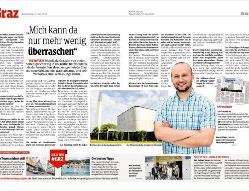 Interview Kleine Zeitung – 31.05.2018